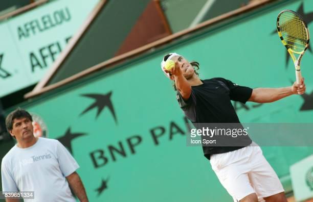 Tony NADAL / Rafael NADAL Entrainement Roland Garros 2007