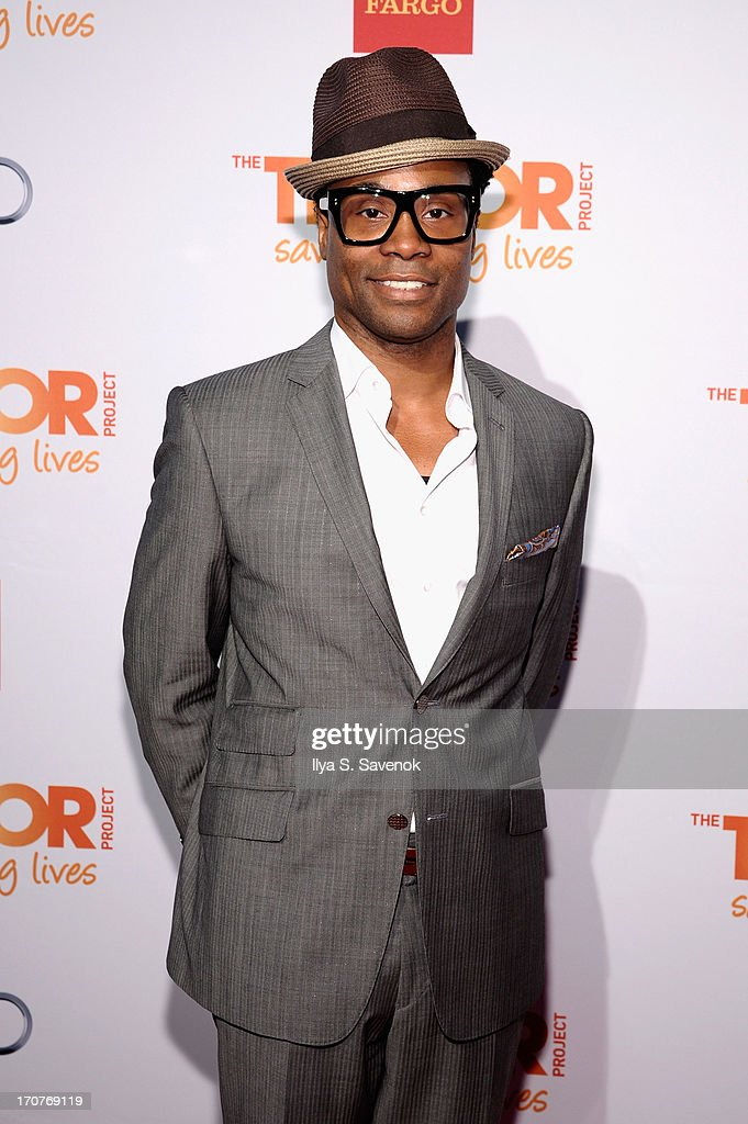 Tony nominated performer Billy Porter arrives for The Trevor Project's 2013 'TrevorLIVE' Event Honoring Cindy Hensley McCain at Chelsea Piers on June 17, 2013 in New York City.