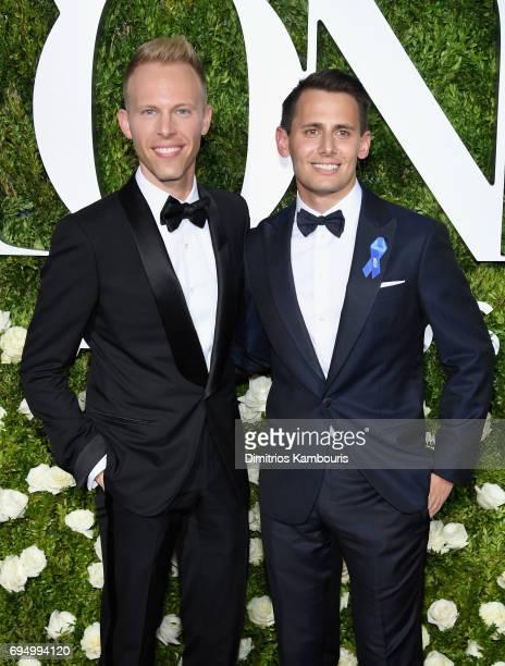 Tony Nominees Justin Paul and Benj Pasek attend the 2017 Tony Awards at Radio City Music Hall on June 11 2017 in New York City