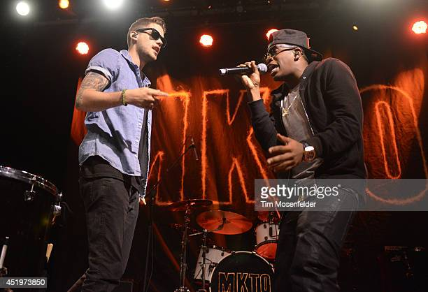 Tony Oller and Malcolm Kelley of MKTO perform at The Fillmore on July 9 2014 in San Francisco California