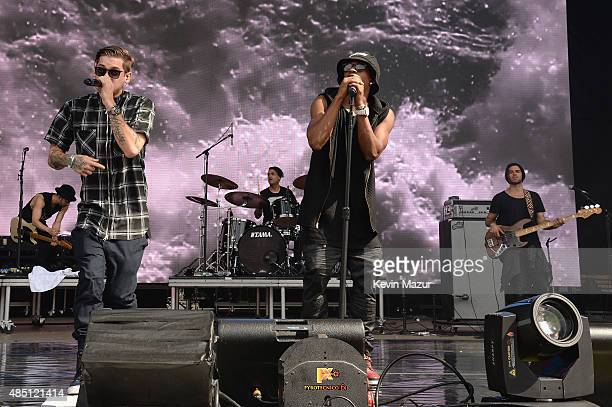 Tony Oller and Malcolm Kelley of MKTO perform during Billboard Hot 100 Festival Day 2 at Nikon at Jones Beach Theater on August 23 2015 in Wantagh...