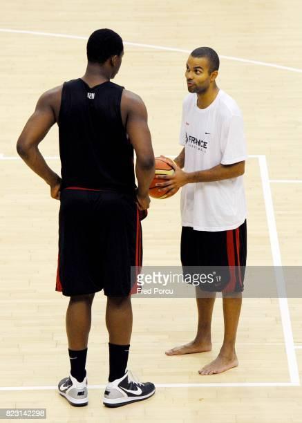 Tony PARKER Entrainement Equipe de France de Basket Preparation Euro 2011 Stade Pierre de Coubertin