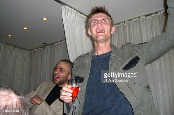 Tony Parker and Andrei Kirilenko during Pure Slam Dunks with Eva Longoria and Tony Parker Inside at Pure Night Club in Las Vegas Nevada United States