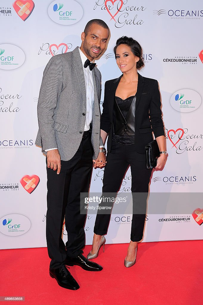 Tony Parker and Axelle Francine attend the 'Par Coeur' Gala To Benefit CKDB Ce Ke Du Bonheur Association at Pavillon d'Armenonville on September 24...