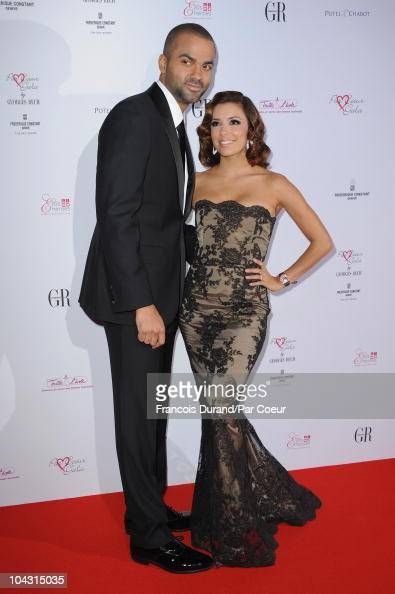 Tony Parker and Eva Longoria attend the Par Coeur Gala 2010 in collaboration with Georges Rech and Frederique Constant at Pavillon Cambon Capucines...