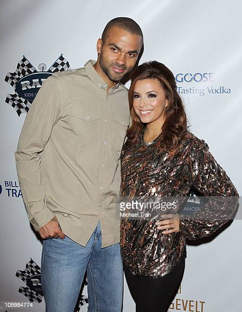 Tony Parker and Eva Longoria Parker arrive at the Rally For Kids With Cancer 'The Winner's Circle' gala dinner held at the Kodak Theatre Grand...
