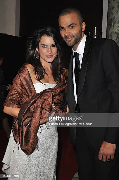 Tony Parker and Marion Jolles attend the Par Coeur Gala 2010 in collaboration with Georges Rech and Frederique Constant dinner and auction at...