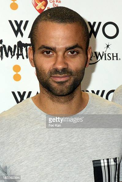 Tony Parker attends the Wap Two' by Tony Parker Launch Cocktail At Kiliwatch Store In Paris on September 28 2013 in Paris France