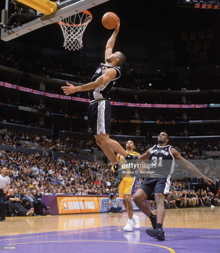 Tony Parker makes a dunk