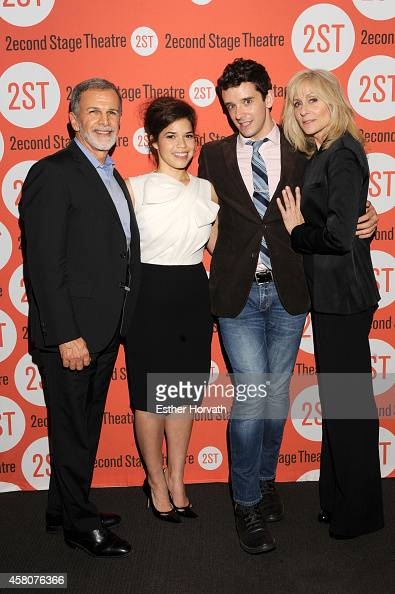 Tony Plana America Ferrera Michael Urie and Judith Light attend 'Lips Together Teeth Apart' opening night after party at Four at Yotel on October 29...
