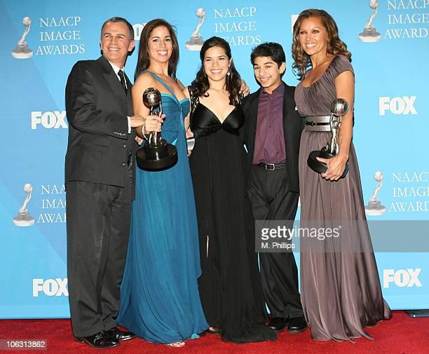 Tony Plana Ana Ortiz America Ferrera Mark Idelicato and Vanessa Williams of 'Ugly Betty' winner Outstanding Comedy Series
