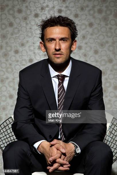 Tony Popovic coach of the newly announced ALeague side to be based in Western Sydney poses during a portrait session at the FFA offices on May 17...