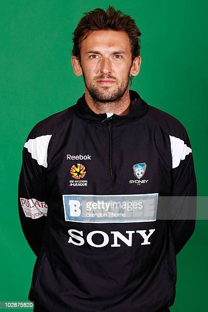 Tony Popovic of Sydney FC poses during the official Sydney FC 2010/11 Hyundai ALeague headshots session at Macquarie Uni on July 14 2010 in Sydney...