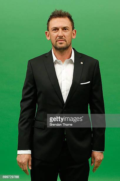 Tony Popovic poses during the Western Sydney Wanderers ALeague headshots session at Fox Studios on September 5 2016 in Sydney Australia