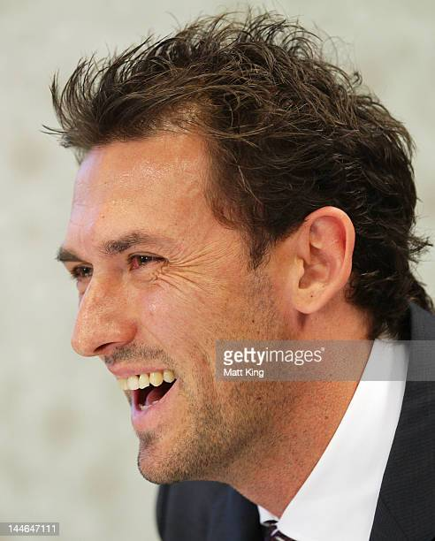 Tony Popovic speaks during a press conference to announce Tony Popovic as head coach and Lyall Gorman as Executive Chairman of the new Western Sydney...