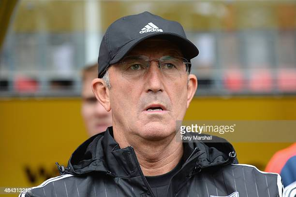 Tony Pulis Head Coach of West Bromwich Albion during the Barclays Premier League match between Watford and West Bromwich Albion at Vicarage Road on...