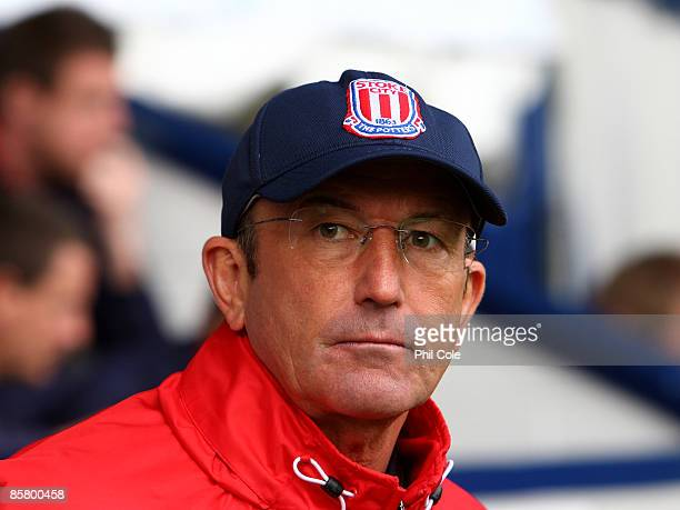 Tony Pulis Manager of Stoke City during the Barclays Premier League match between West Bromwich Albion and Stoke City at The Hawthorns on March 04...