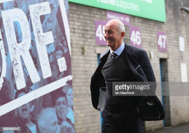 Tony Pulis Manager of West Bromwich Albion arrives at the stadium prior to the Premier League match between Burnley and West Bromwich Albion at Turf...