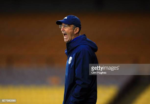 Tony Pulis manager of West Bromwich Albion during the pre season friendly match against Port Vale at Vale Park on August 1 2017 in Burslem England