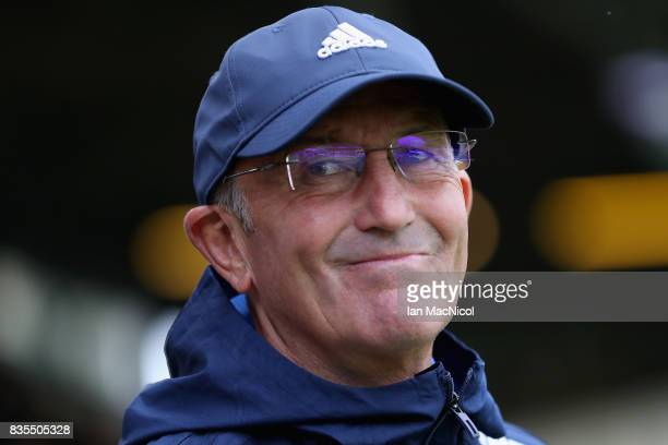 Tony Pulis Manager of West Bromwich Albion during the Premier League match between Burnley and West Bromwich Albion at Turf Moor on August 19 2017 in...