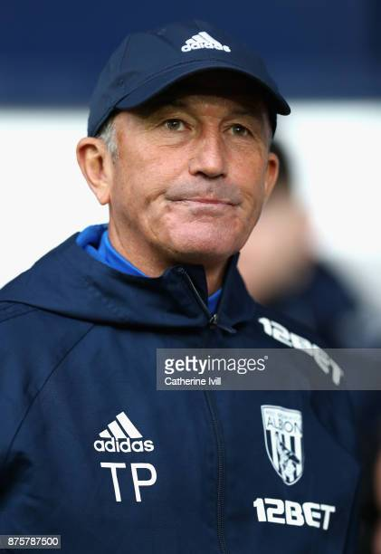 Tony Pulis Manager of West Bromwich Albion during the Premier League match between West Bromwich Albion and Chelsea at The Hawthorns on November 18...