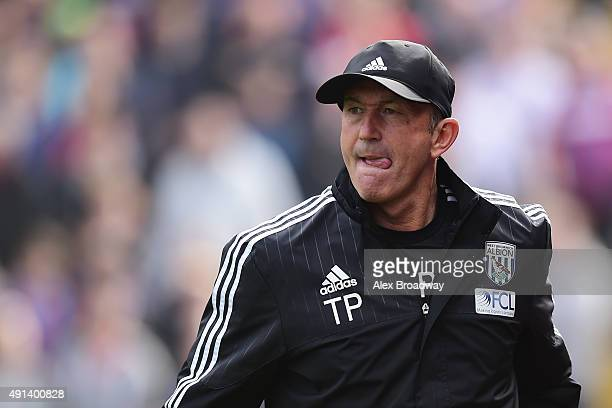 Tony Pulis manager of West Bromwich Albion looks on prior to the Barclays Premier League match between Crystal Palace and West Bromwich Albion at...