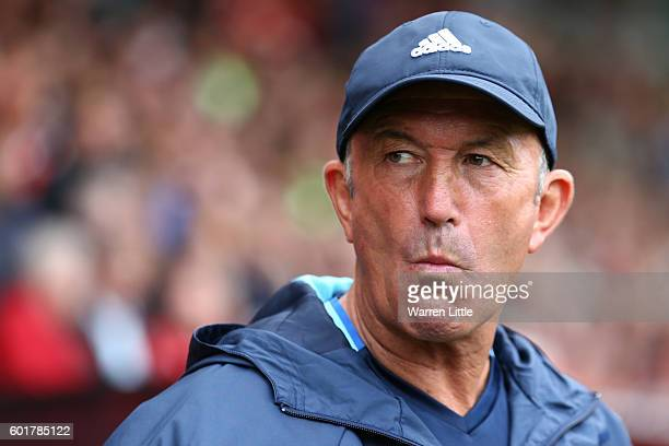 Tony Pulis Manager of West Bromwich Albion reacts during the Premier League match between AFC Bournemouth and West Bromwich Albion at Vitality...