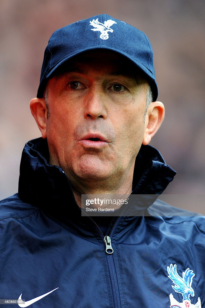 Tony Pulis the Crystal Palace manager looks on during the Barclays Premier League match between Cardiff City and Crystal Palace at Cardiff City Stadium on April 5, 2014 in Cardiff, Wales.