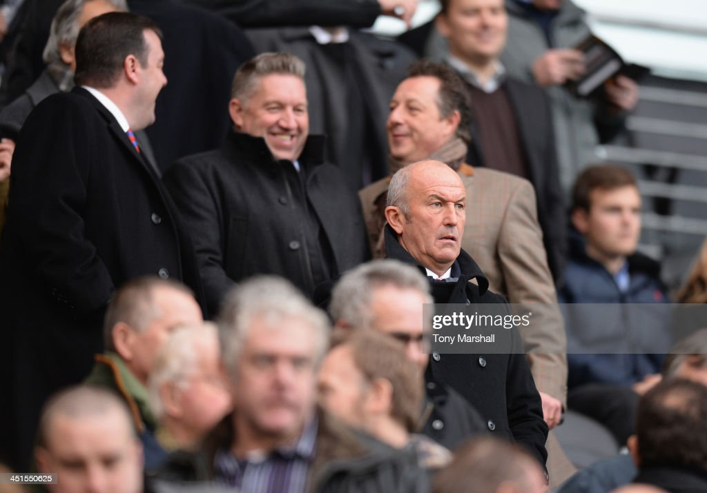 <a gi-track='captionPersonalityLinkClicked' href=/galleries/search?phrase=Tony+Pulis&family=editorial&specificpeople=2225291 ng-click='$event.stopPropagation()'>Tony Pulis</a>, the new manager of Crystal Palace in the crowd during the Barclays Premier League match between Hull City and Crystal Palace at KC Stadium on November 23, 2013 in Hull, England.