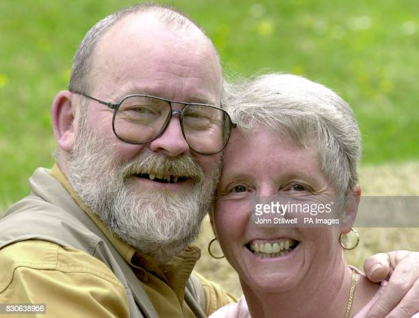 Tony Ramsay a resident manager of Millington Court retirement flats Uckfield East Sussex with his wife Jackie after receiving a letter from Downing...