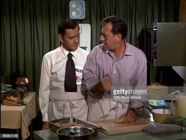 COUPLE Tony Randall as Felix Unger left and Jack Klugman as Oscar Madison in 'They Use Horse Radish Don't They' January 7 1971 Season 1 episode 14...