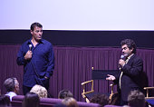 Tony Robbins and filmmaker Joe Berlinger speak during a QA at the celebration of the release of Joe Berlinger / Tony Robbins documentary 'I Am Not...