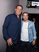 Tony Robbins and professional dancer Derek Hough attend the celebration of the release of Joe Berlinger / Tony Robbins documentary 'I Am Not Your...