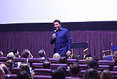 Tony Robbins speaks during a QA at the celebration of the release of Joe Berlinger / Tony Robbins documentary 'I Am Not Your Guru' now available on...