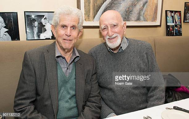 Tony Roberts and Dominic Chianese attend the SiriusXM Sinatra 100 celebration at Patsy's on December 12 2015 in New York City