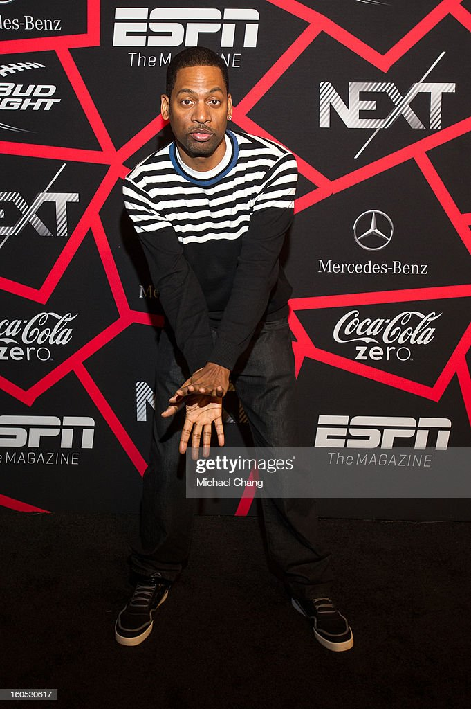 <a gi-track='captionPersonalityLinkClicked' href=/galleries/search?phrase=Tony+Rock&family=editorial&specificpeople=221570 ng-click='$event.stopPropagation()'>Tony Rock</a> attends ESPN The Magazine's 'Next' Event at Tad Gormley Stadium on February 1, 2013 in New Orleans, Louisiana.