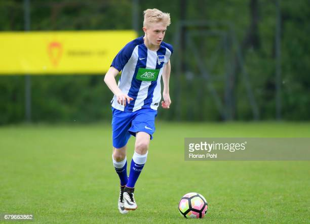 Tony Roelke of Hertha BSC U14 during the Nike Premier Cup 2017 on May 6 2017 in Berlin Germany