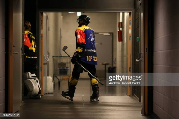 Tony Romano of Stavanger Oilers before the Champions Hockey League match between Stavanger Oilers and KalPa Kuopio at the DNB Arena on October 11...