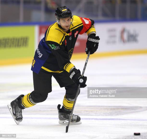 Tony Romano of Stavanger Oilers in action during the Champions Hockey League match between Stavanger Oilers and KalPa Kuopio at the DNB Arena on...