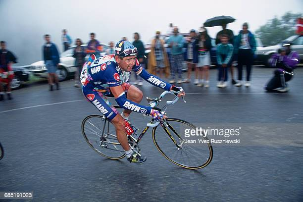 Tony Rominger from Switzerland during stage14 of the 1995 Tour de France | Location GuzetNeige France
