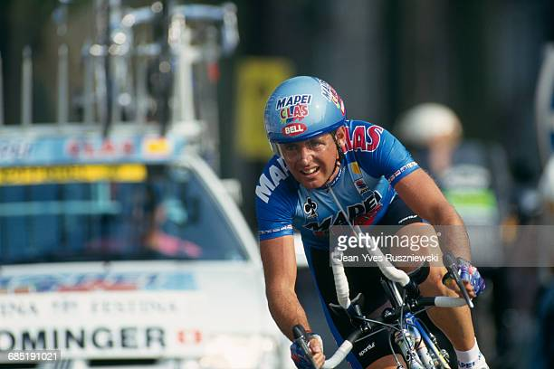 Tony Rominger from Switzerland during the prologue of the 1994 Tour de France