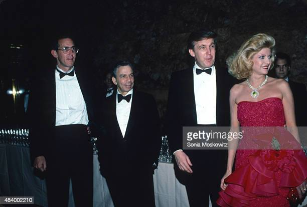Tony Schwartz SI Newhouse Donald Trump and Ivana Trump attend a Trump book party at Trump Tower December 1987 in New York City