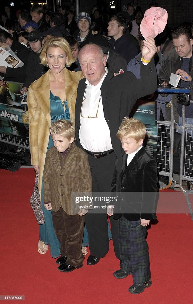 Tony Scott director and family during Deja Vu London Premiere Arrivals at Leicester Square in London Great Britain
