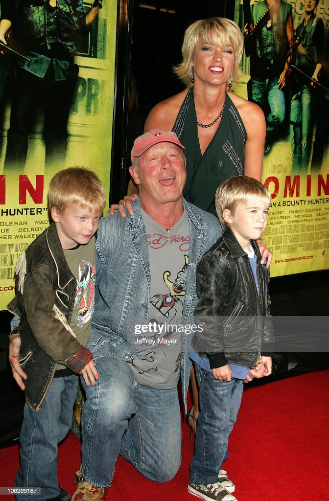 Tony Scott director and family during New Line Cinema's 'Domino' Los Angeles Premiere Arrivals at Grauman's Chinese Theatre in Hollywood California...