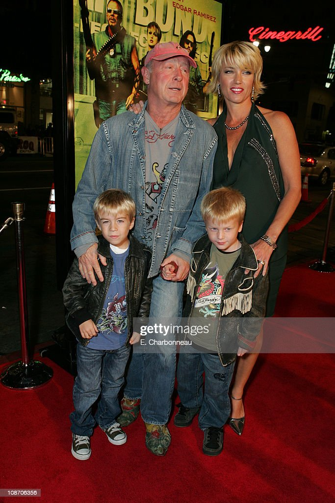 Tony Scott director and wife Donna with sons Max and Frank