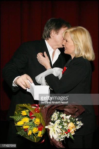 Tony Scotti and Sylvie Vartan at Sylvie Vartan In Concert At The Olympia In Paris