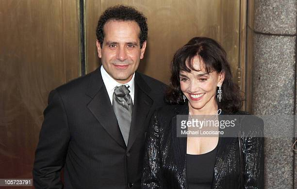 Tony Shalhoub and Brooke Adams during 59th Annual Tony Awards Arrivals at Radio City Music Hall in New York City New York United States