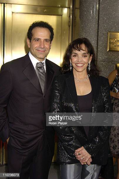 Tony Shalhoub and Brooke Adams during 59th Annual Tony Awards Outside Arrivals at Radio City Music Hall in New York City New York United States