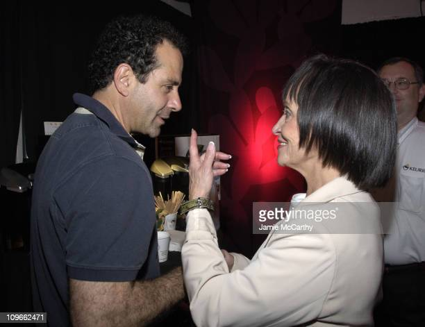 Tony Shalhoub and Chita Rivera during 59th Annual Tony Awards On 3 Productions Gift Suite at Radio City Music Hall in New York City New York United...