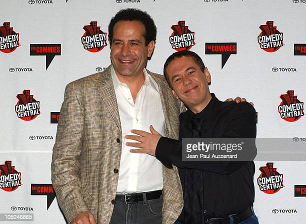 Tony Shalhoub and Gilbert Gottfried during Comedy Central's First Annual Commie Awards Press Room at Sony Studios in Culver City California United...